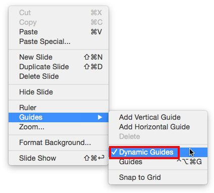 Smart Dynamic Guides in PowerPoint 2016 for Mac Mac, Diagram