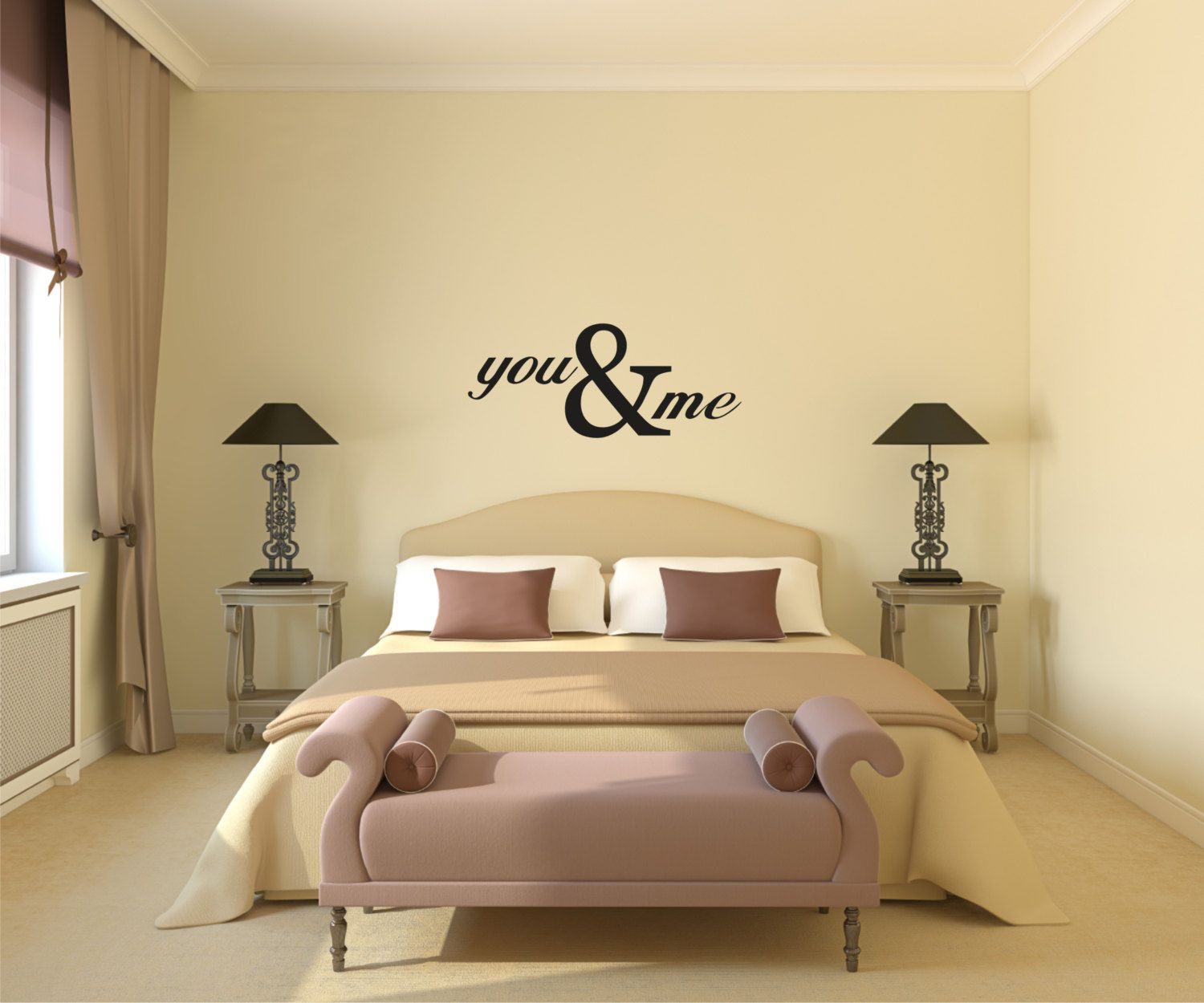 Vinyl Wall Decal You & Me - Love Vinyl Wall Decal - You and Me ...