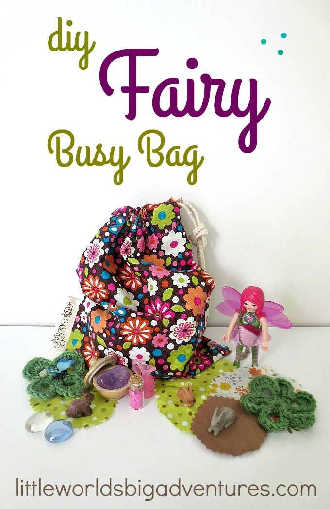 How to Create a Fairy Busy Bag for Magic Play Moments | Little Worlds Big Adventures