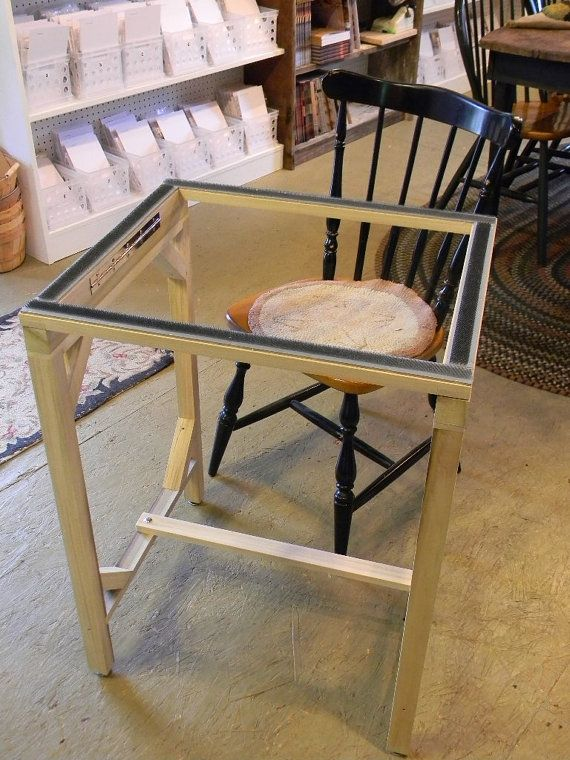 We Are Hy To Introduce Our Standing Floor Frame For Rug Hooking From Notforgotten Farm This Stand Like All Of Wood Products