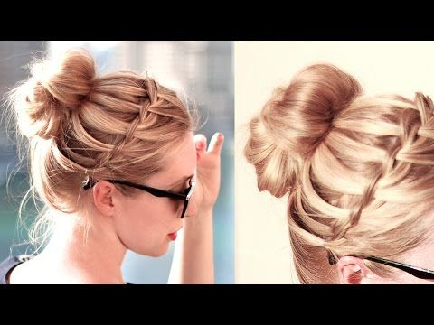 Back to school hairstyles for everyday braided half updo