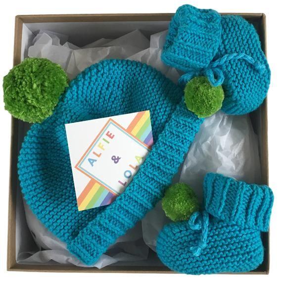 Photo of Baby Boy, Baby Gift for Boys, Baby Boy Hat, Baby Boy Booties, Baby Boy Gift Set, Cotton, Blue, Green, Newborn, 3 Months, 6 Months, 12 Months