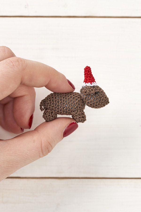 Micro Crochet Sausage Dog Pdf Crochet Pattern Molliemakes Advent