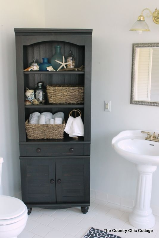 Finding a Bathroom Cabinet | Bathroom cabinets, Decor crafts and ...