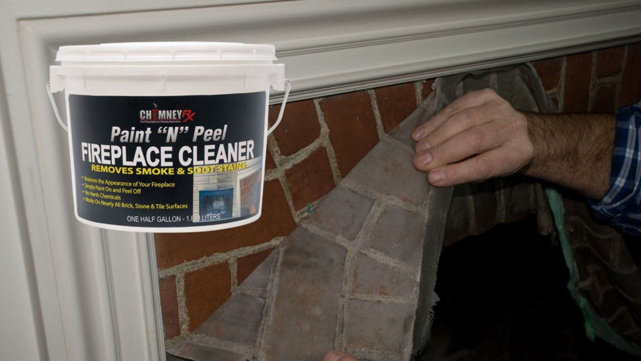 Chimney Rx Paint N Peel Fireplace Cleaner Use Chimney Rx Paint N Peel Fireplace Cleaner To Remove Soot And Smoke Fireplace Cleaner Fireplace Clean Laundry