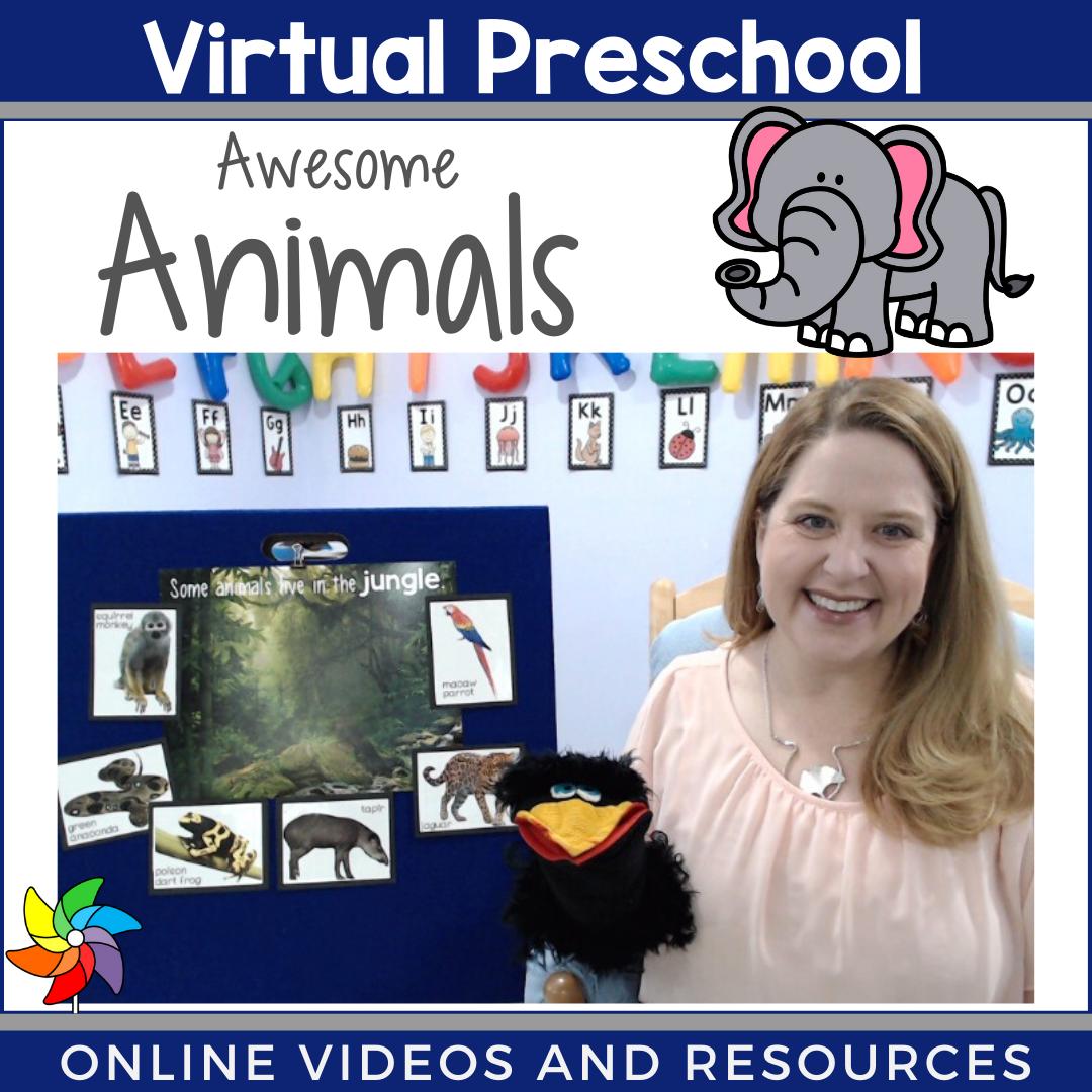 Virtual Preschool Circle Time In