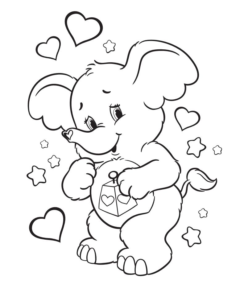 Meet Lotsa Heart Elephant Bear Coloring Pages Cartoon Coloring Pages Coloring Pages
