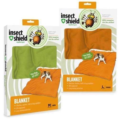 Insect Shield Mosquito Flea Tick Biting Insect Repellent Dog Pet Blanket Bed BIG