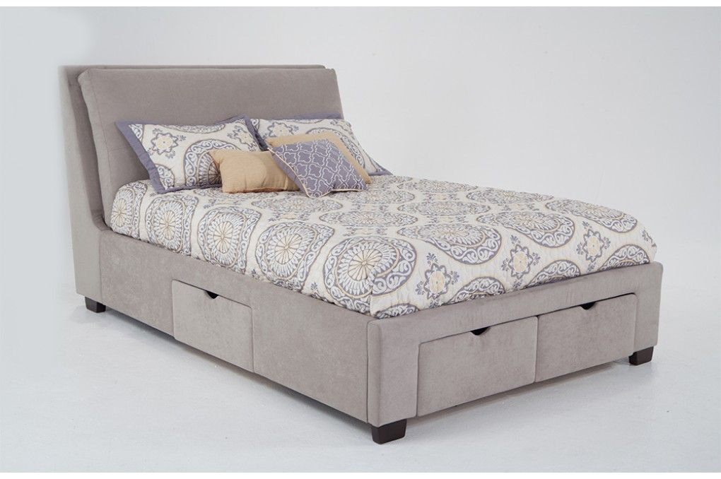 Upholstered Bed With 4 Storage Drawers Storage Bed Bed Bob S Discount Furniture