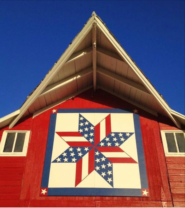 Patriotic Barn Quilt In North Central Kansas A Subtle Reminder To Go Vote Patrioticquults Barnquilts Red Painted Barn Quilts Barn Quilt Designs Barn Quilt