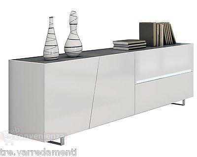 Madia soggiorno ~ Madia buffet cooper credenza moderna bianca in kit di montaggio