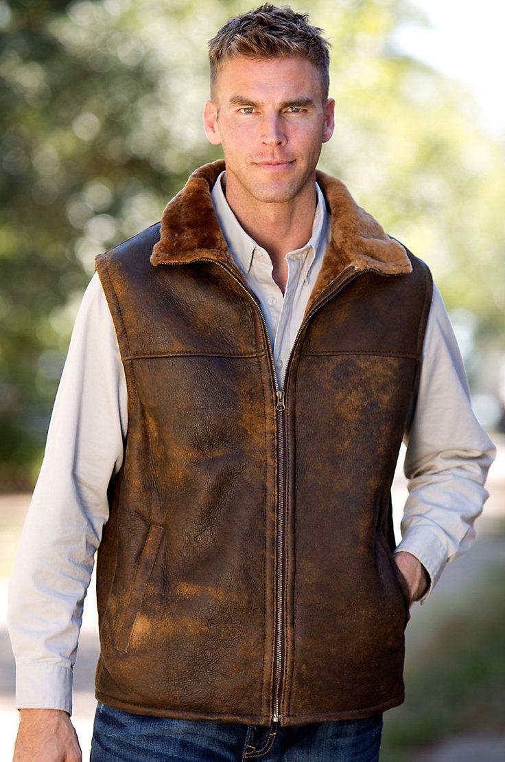Men's Dwayne Shearling Sheepskin Vest by Overland