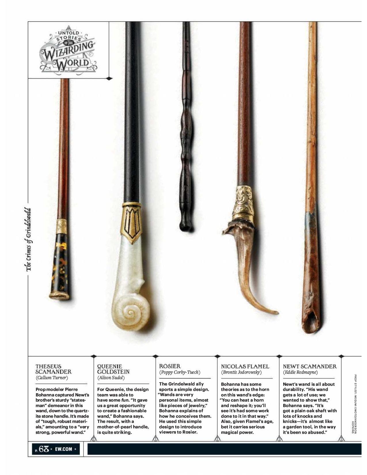 Fantastic Beasts Queenie Goldstein Magic Wand Magician Stick Cosplay Prop Gift