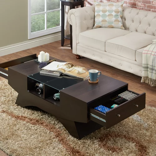 madilynn trestle coffee table with