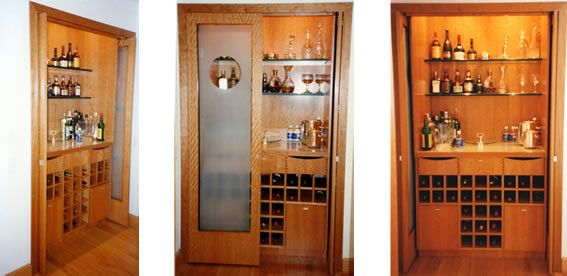 Interior, Astounding Hidden Home Bar Small Space Design Much Like The  Cupboard And So Save