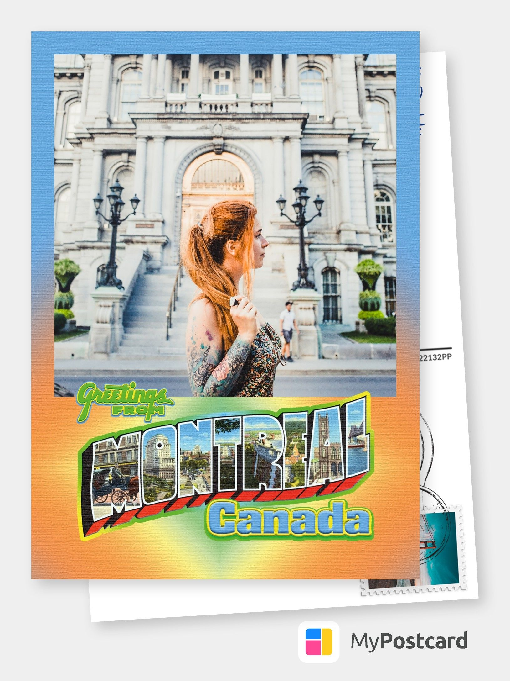 Large Letter Postcard Site Greetings from Montreal