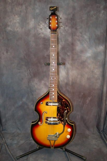 encore by teisco violin body scroll headstock pro setup original softshell case 1960 39 s sunburst. Black Bedroom Furniture Sets. Home Design Ideas