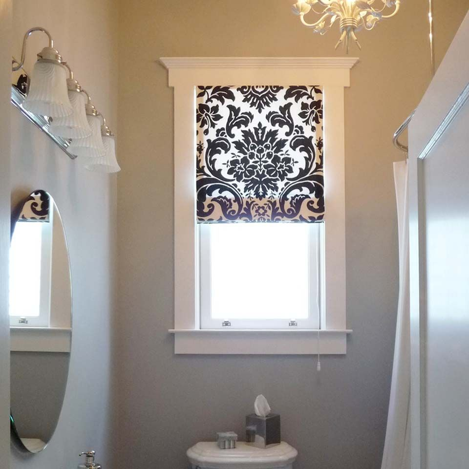 Amazing Roller Blind Small Bathroom Window Bathroom