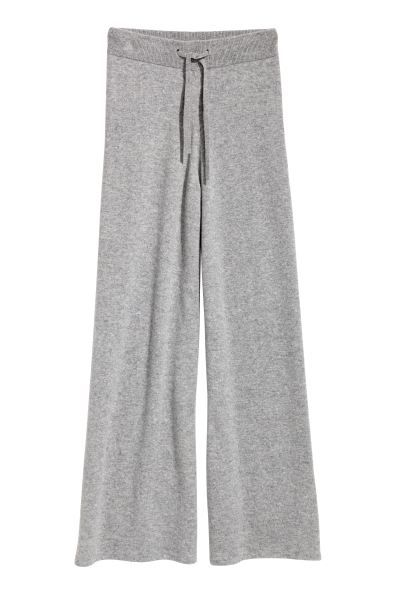 Photo of Wide cashmere trousers – Gray – Ladies   H&M DK