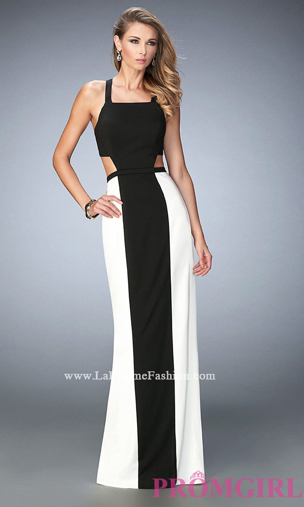 Black and Ivory Prom Dress by La Femme Style: LF-22310 | Prom 2016 ...