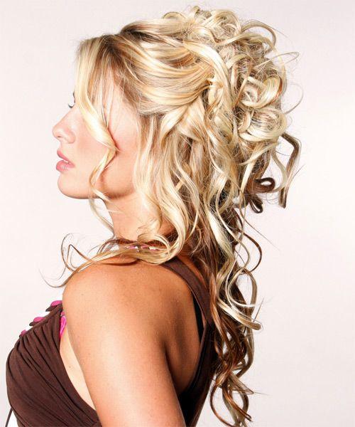 Bridesmaids Hairstyles For Long Hair Half Up Formal Half Up Long Curly Hairstyle 9488 T Medium Length Hair Styles Long Curly Hair Down Curly Hairstyles