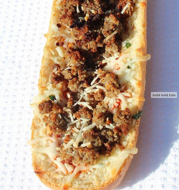Emeril's French Bread Pizza Sandwiches - SolidGoldEats ...