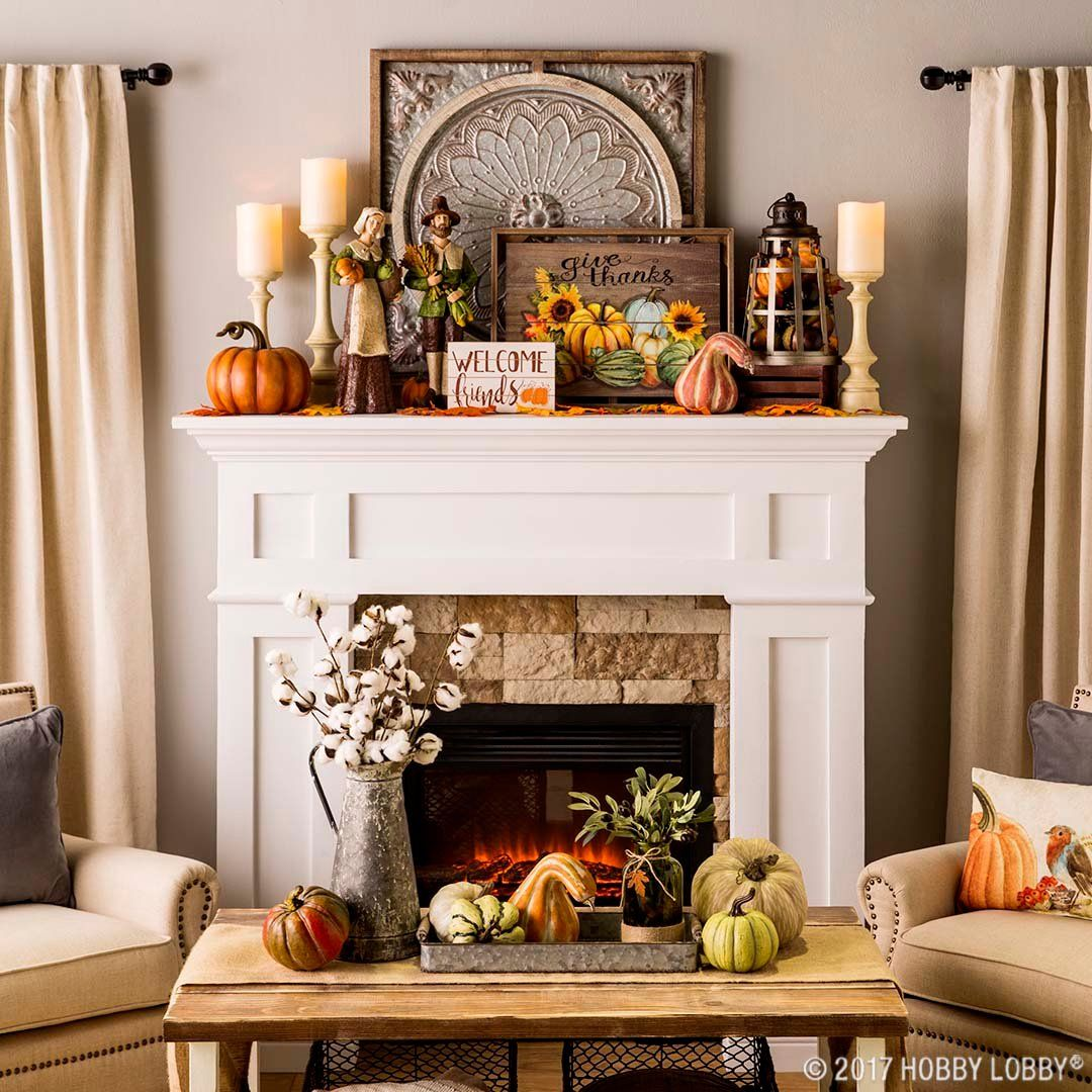 Celebrate Fall With Traditional Harvest Decor Fall Fireplace