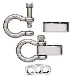 Brass Or Stainless Steel  Screwed O Ring ClaspS Anchor Shackle Adjustable for