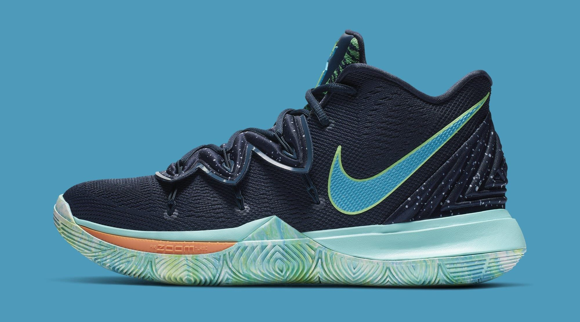 super popular 6ecf4 1e34a Nike Kyrie 5  UFO  Obsidian Light Current Green-Scream Green AO2918-