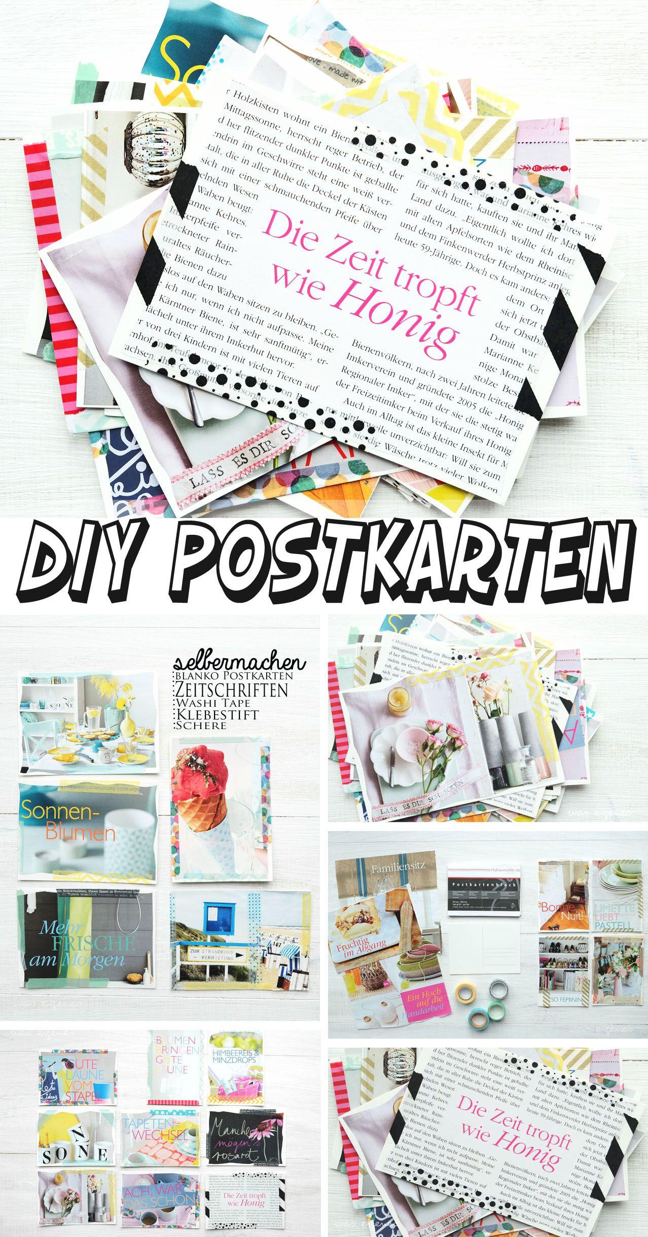 DIY: Postkarten aus alten Living at Home Zeitschriften basteln ...