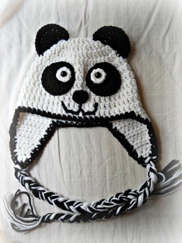 Crochet Panda Bear Hat @Christina Childress & Helmick   Hats   Pinterest