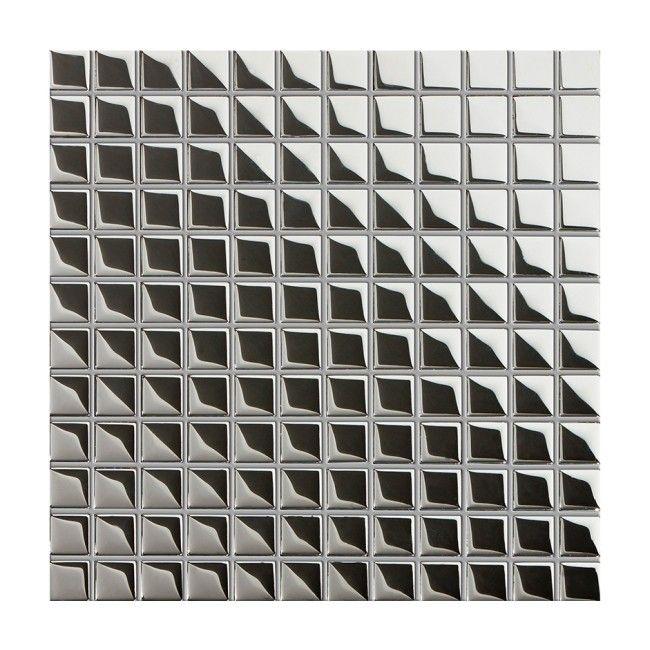 Mozaika Szklana Ceramika Pilch 30x30 Cm Srebrna