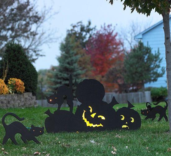 Idées effrayantes pour décoration d\'Halloween dans le jardin