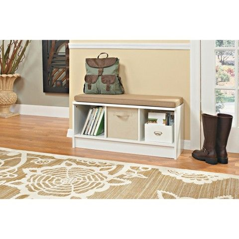Closetmaid 3 Cube Bench White 50 99 Sale Target Playroom Or Mudroom But Laminate Cube Storage Bench Entryway Bench Storage Cubby Storage Bench