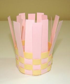paper basket craft basket weaving idea for teaching the students 2608