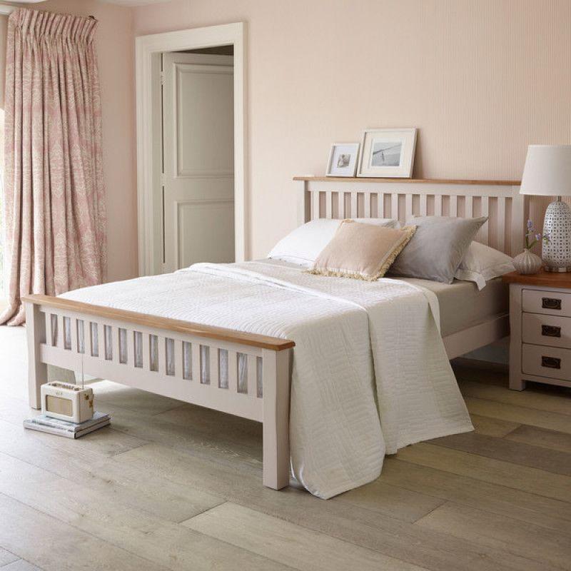 Cream Double Bed | Kemble | Oak Furnitureland