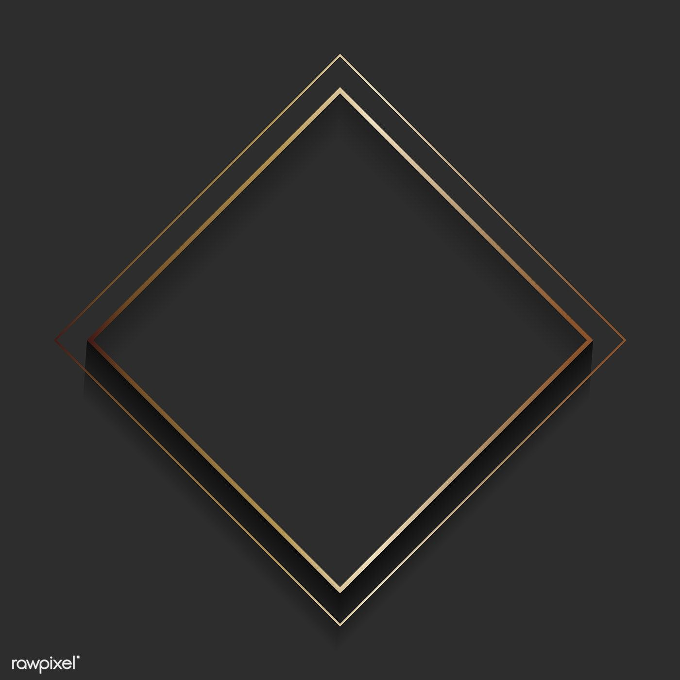 Download Premium Vector Of Blank Square Black Abstract Frame