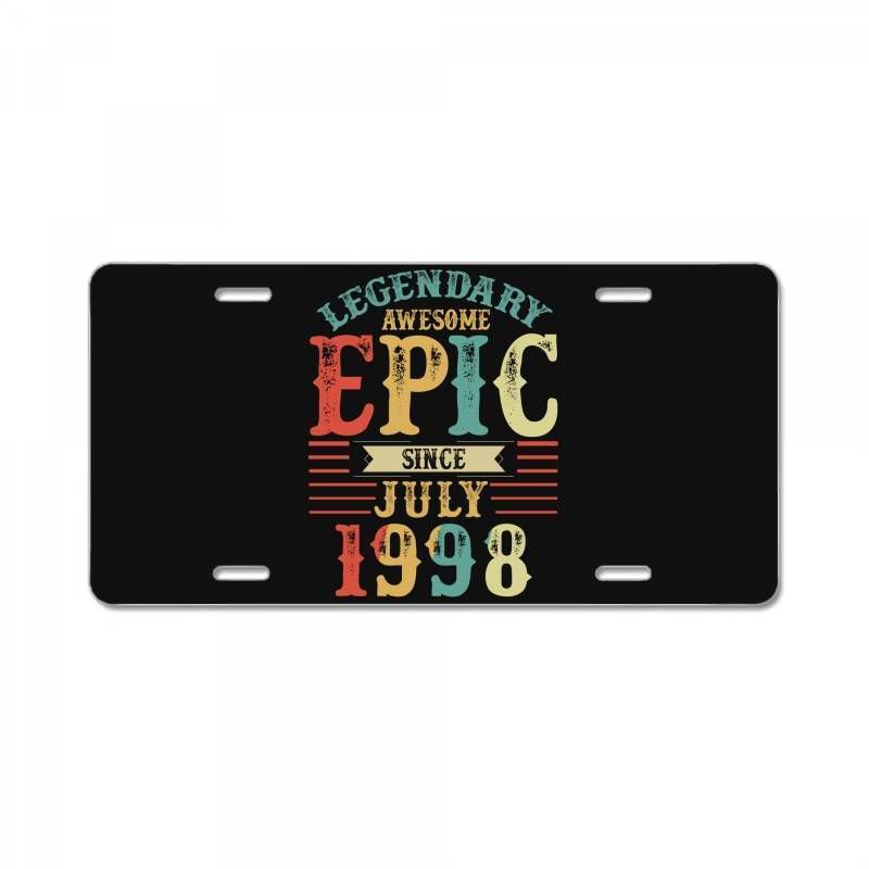 legendary awesome epic since 1998. Create your own and amazing license plate! select a perfect art for you and enjoy now.-Size: 12″ X 6″ (standard plate size)-Material: Reinforced Plastic / Acrylic.