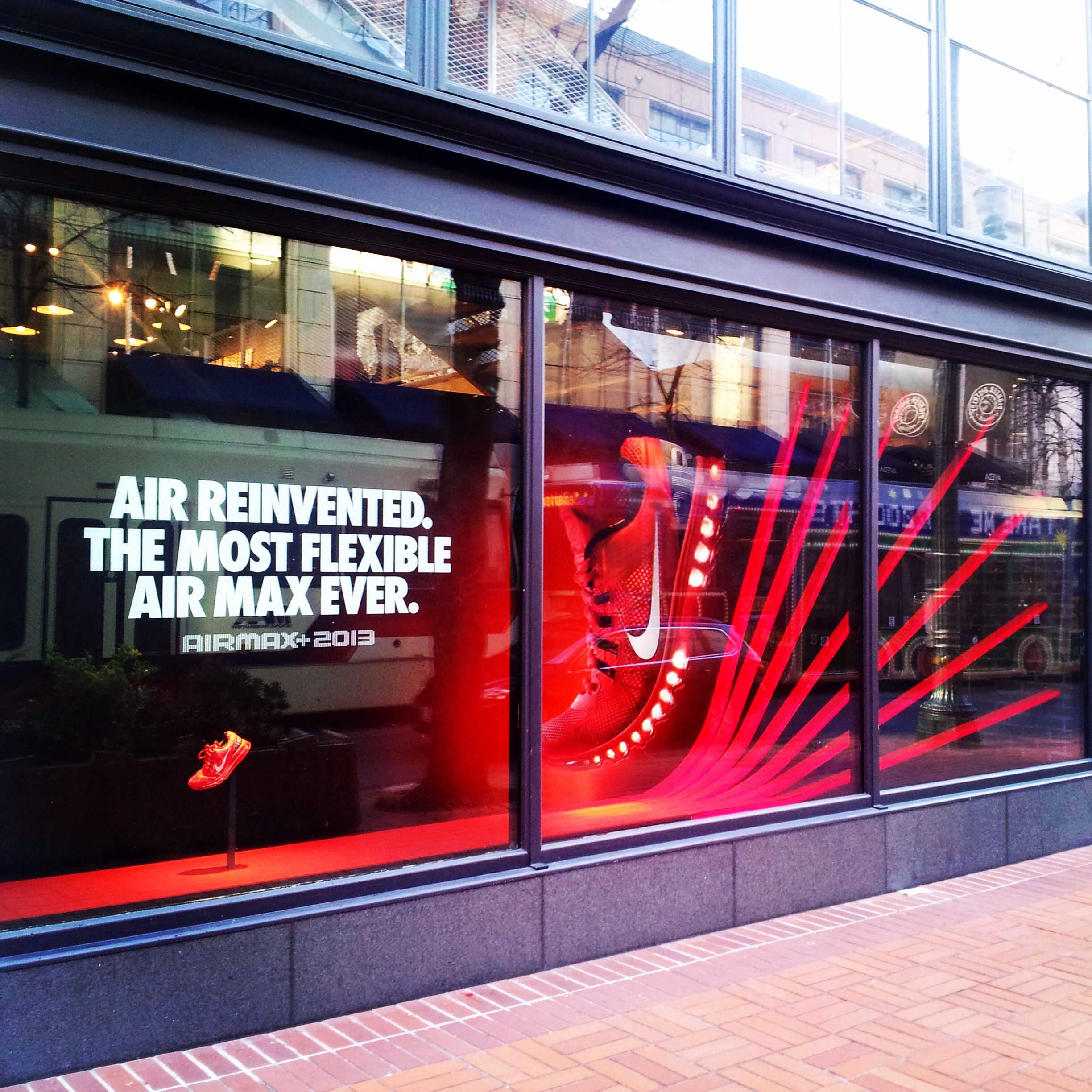 Local Retail Store Front Nike Vinyl Window Display ...