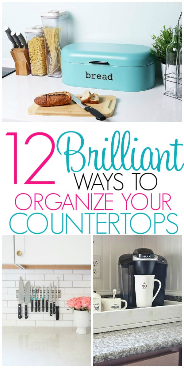 12 Ways To Organize Kitchen Countertops With Images Kitchen
