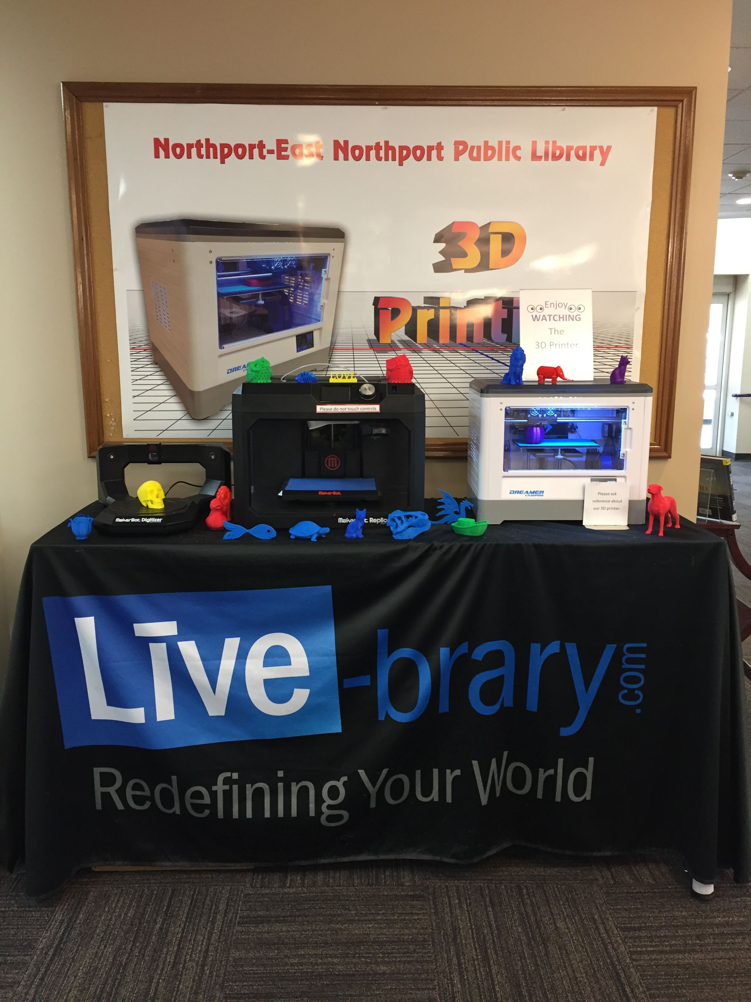 3-D Printing Display September 2017 in East Northport ...