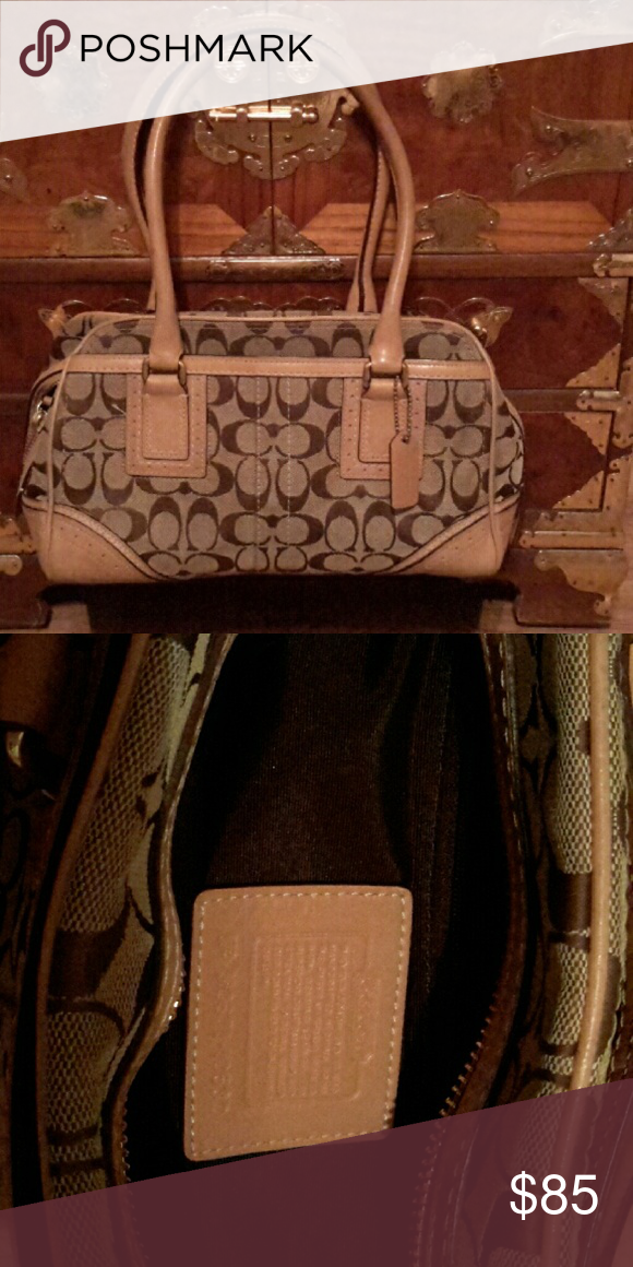 COACH BAG W/MATCHING WALLET,CHECKBOOK COVER EUC Trade vale 475.00Great coach handbag,practically new,shows minimal signs of use ,with wallet and checkbook cover  all authentic,shows minimal wear to all 3 in excellent condition,beautiful set,pictures don't do these 3 pieces justice. Trade value higher Coach Bags Satchels