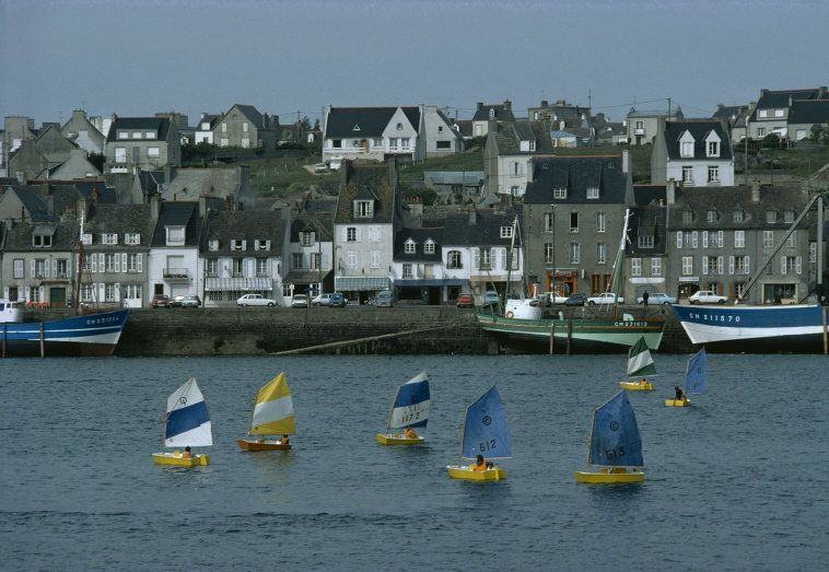 Town of Camaret.The fishing harbor.  Magnum Photos - Bruno Barbey