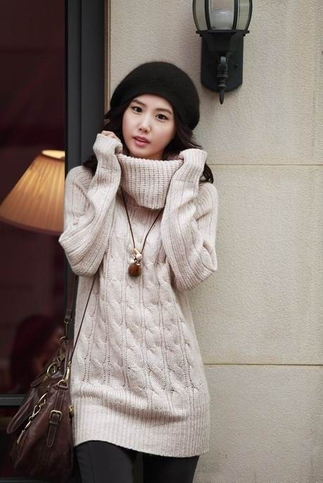 Oversized Cable Knitted Sweaters Off White Loose Oversize Pullover