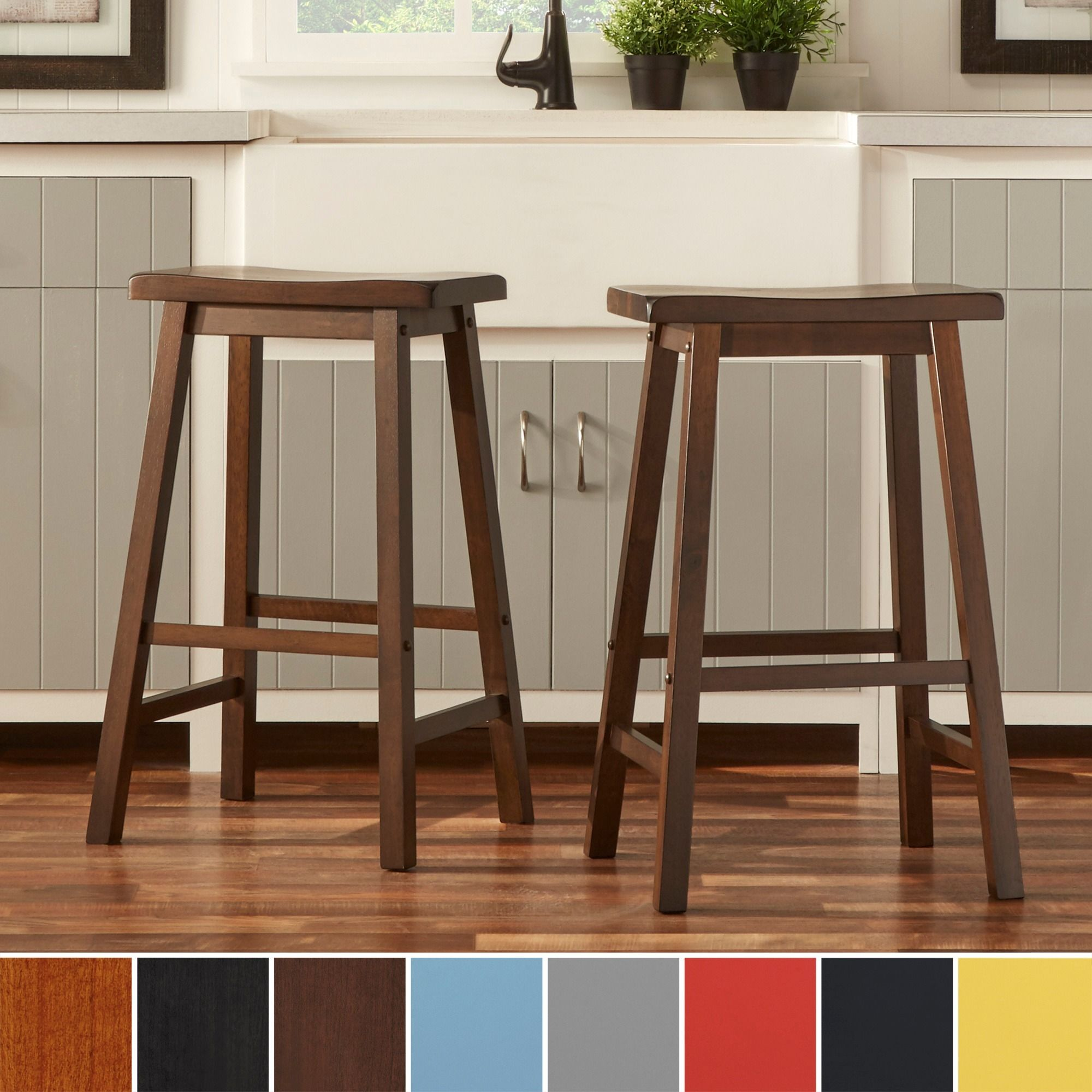 Salvador Saddle 29 Inch Counter Height Backless Stools Set Of 2 By Inspire Q Bold Backless Stools Stool Bar Height Stools