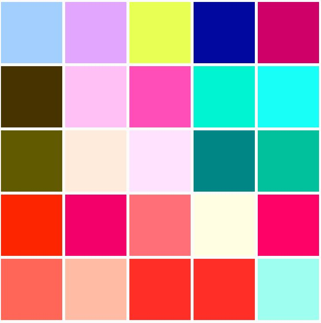 Pretty Colours I Simply Love Lots Of Color Carta De Colores