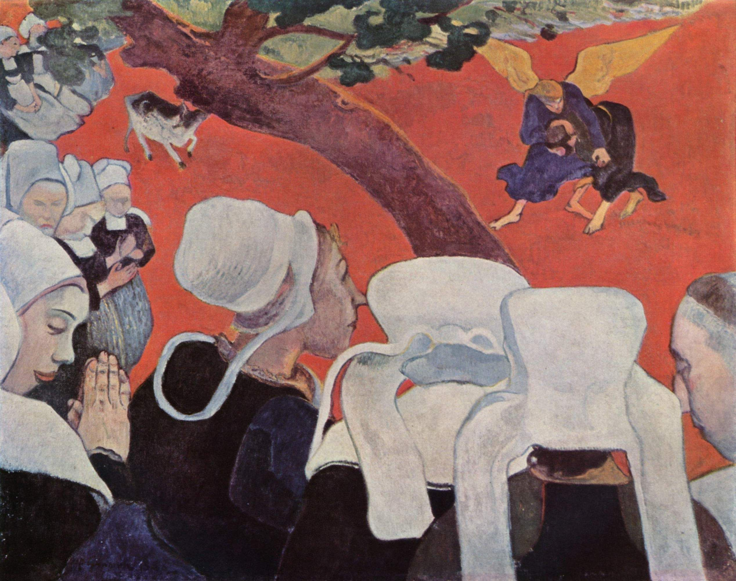 Vision After The Sermon Artist Paul Gauguin Dimensions 2 5 X 3