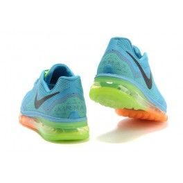 Nike Mens Air Max+ 2014 Running Shoes Sky Blue/Green