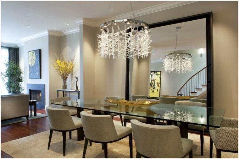 interieur-salle-a-manger-moderne-miroir-fauteuil - IdeeCO | deco ...