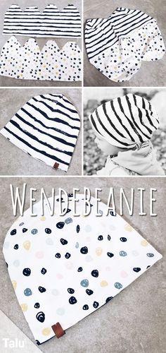 Bonnet à coudre réversible pour bébé – Instructions et modèles – Talu.de   – ♥ Inspirationen ♥